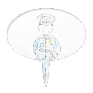 Policía Figuras De Tarta