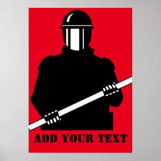 Policía antidisturbios póster