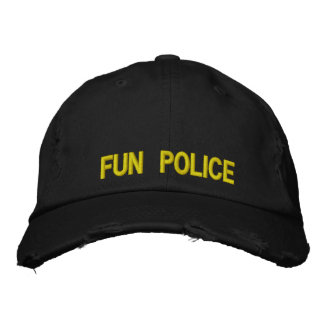 Policía apenada de la diversión del casquillo gorra de beisbol