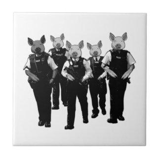 Policía británica anti azulejo cuadrado pequeño