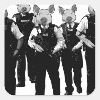 Policía británica anti calcomanía cuadradas personalizada