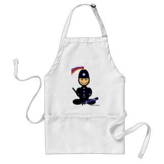Policía (con los logotipos) delantal