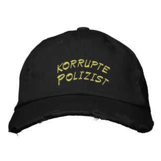 Policía corrupto en alemán gorros bordados