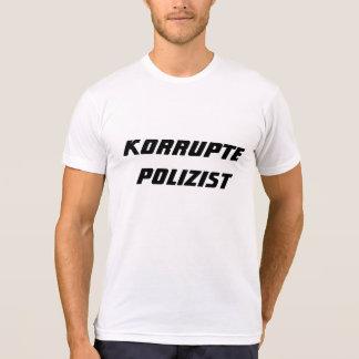 Policía corrupto en alemán playera