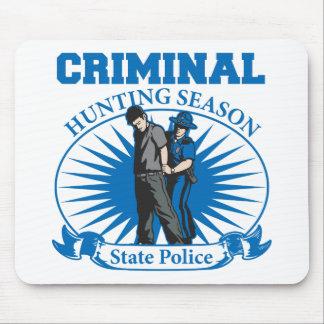 Policía criminal del estado de la temporada de caz alfombrillas de ratón