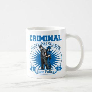 Policía criminal del estado de la temporada de taza de café
