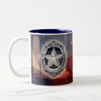Policía de Dallas Taza De Dos Tonos