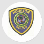 policía de Houston Pegatina Redonda