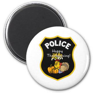 Policía de la acción de gracias iman para frigorífico