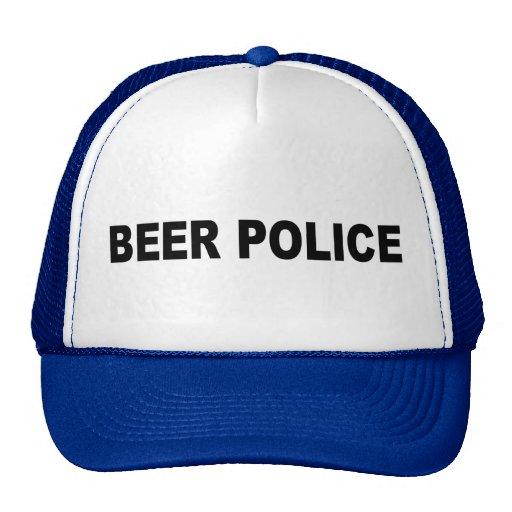 policía de la cerveza gorra