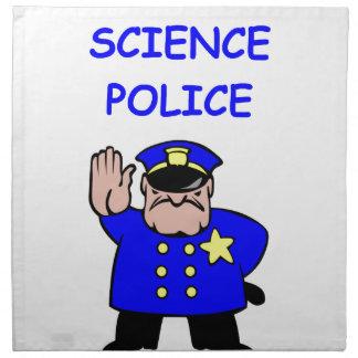 policía de la ciencia servilleta