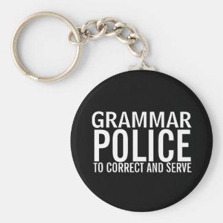 Policía de la gramática a corregir y a servir llavero personalizado