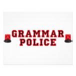Policía de la gramática anuncio personalizado