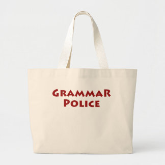 Policía de la gramática bolsa tela grande