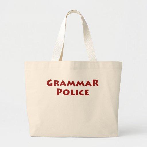 Policía de la gramática bolsas