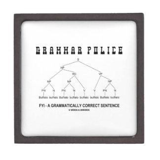 Policía de la gramática (el búfalo 8 veces corrige cajas de regalo de calidad