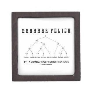 Policía de la gramática (el búfalo 8 veces corrige cajas de recuerdo de calidad