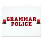 Policía de la gramática invitación 10,8 x 13,9 cm