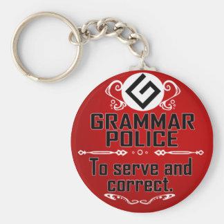 Policía de la gramática llavero personalizado