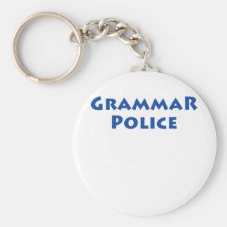 ¡Policía de la gramática! Llavero Redondo Tipo Pin