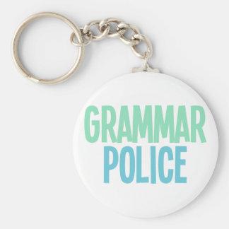 Policía de la gramática llaveros