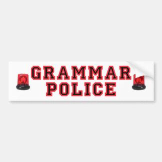 Policía de la gramática pegatina para auto