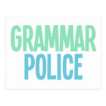 Policía de la gramática postales
