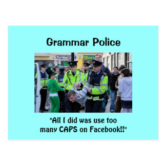 Policía de la gramática - postales