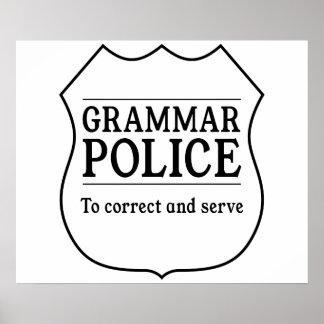 Policía de la gramática póster