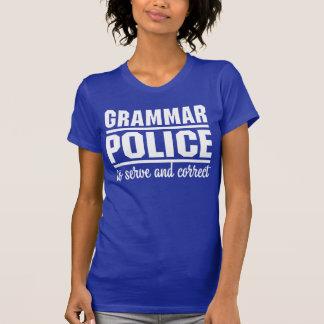 Policía de la gramática remeras