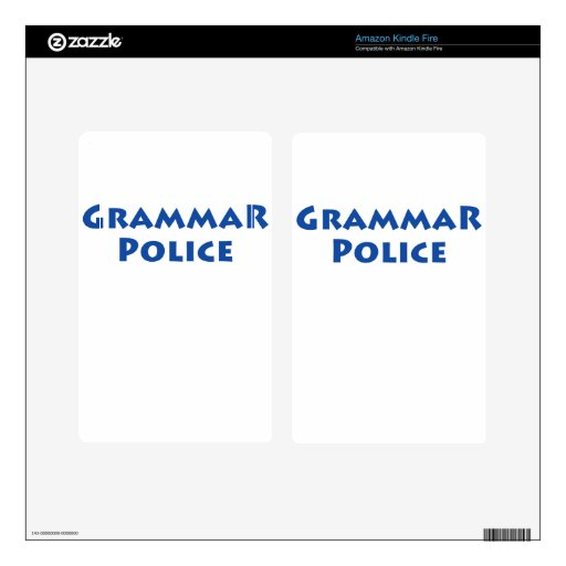 ¡Policía de la gramática! Skin Para Kindle Fire