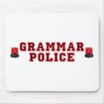 Policía de la gramática tapetes de raton