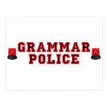Policía de la gramática tarjeta postal