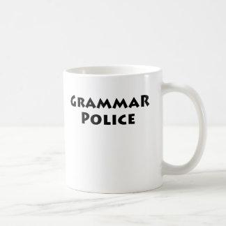 Policía de la gramática taza de café