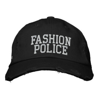 Policía de la moda gorro bordado