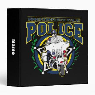 "Policía de la motocicleta carpeta 1 1/2"""