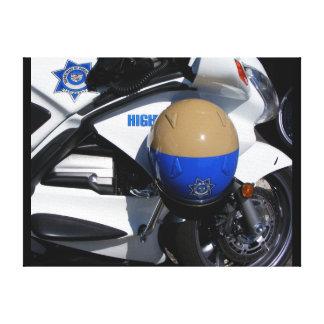 """""""Policía de la motocicleta - orgullo y habilidad """" Lienzo Envuelto Para Galerías"""