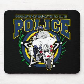 Policía de la motocicleta tapetes de raton