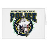 Policía de la motocicleta tarjeta
