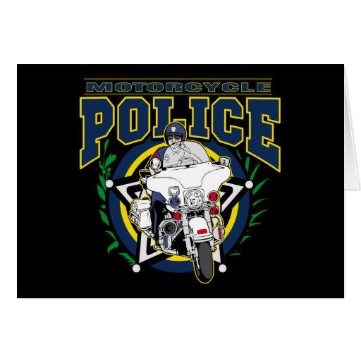 Policía de la motocicleta tarjeta de felicitación