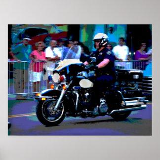 Policía de motocicleta de Reno Póster
