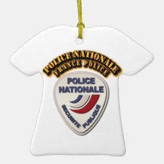 Policía de Nationale Francia de la policía con el Adorno De Cerámica En Forma De Playera