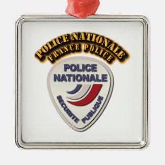 Policía de Nationale Francia de la policía con el Adorno Cuadrado Plateado