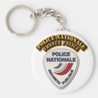 Policía de Nationale Francia de la policía con el Llavero Redondo Tipo Chapa