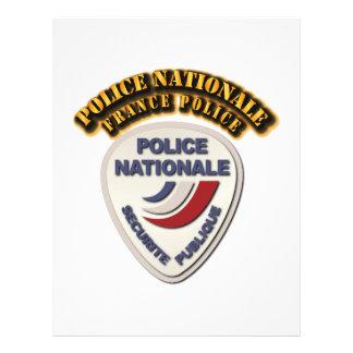 Policía de Nationale Francia de la policía con el Membrete