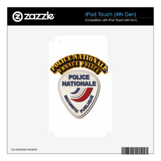 Policía de Nationale Francia de la policía con el iPod Touch 4G Skins