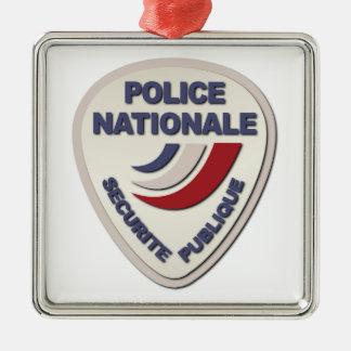 Policía de Nationale Francia de la policía sin Adorno Cuadrado Plateado