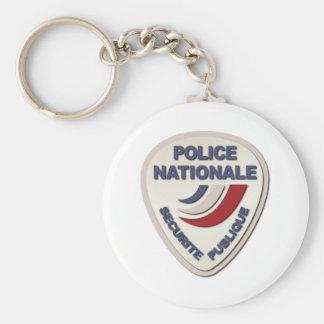 Policía de Nationale Francia de la policía sin Llavero Redondo Tipo Chapa