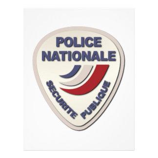 Policía de Nationale Francia de la policía sin Membretes Personalizados