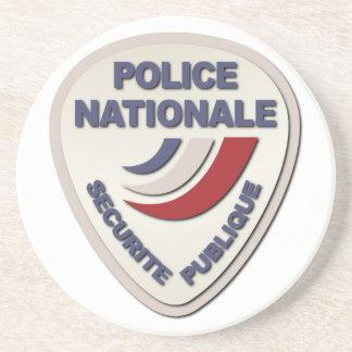 Policía de Nationale Francia de la policía sin Posavasos Personalizados